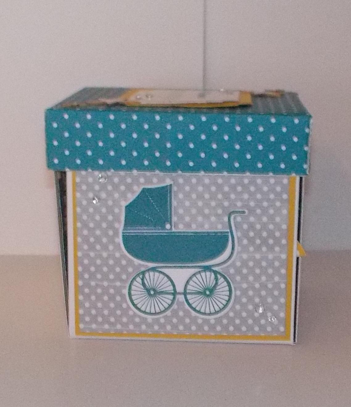 explosionsbox f r ein baby kleine stempelmiez basteln aus liebe. Black Bedroom Furniture Sets. Home Design Ideas