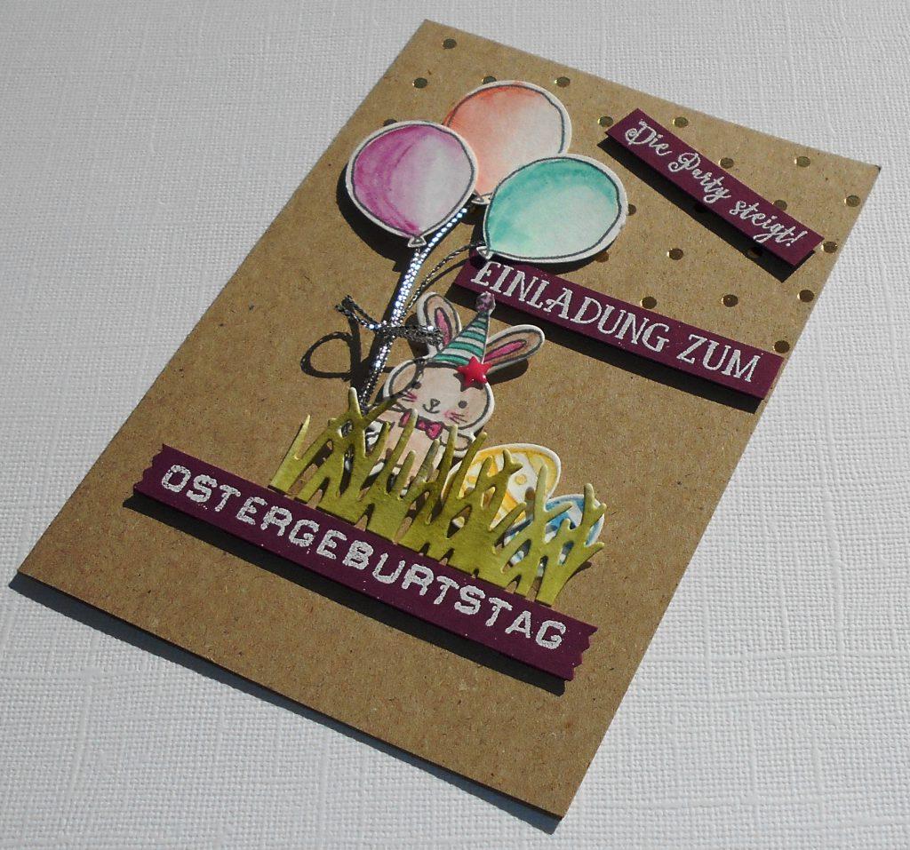 einladungen – kleine stempelmiez – basteln aus liebe, Einladung