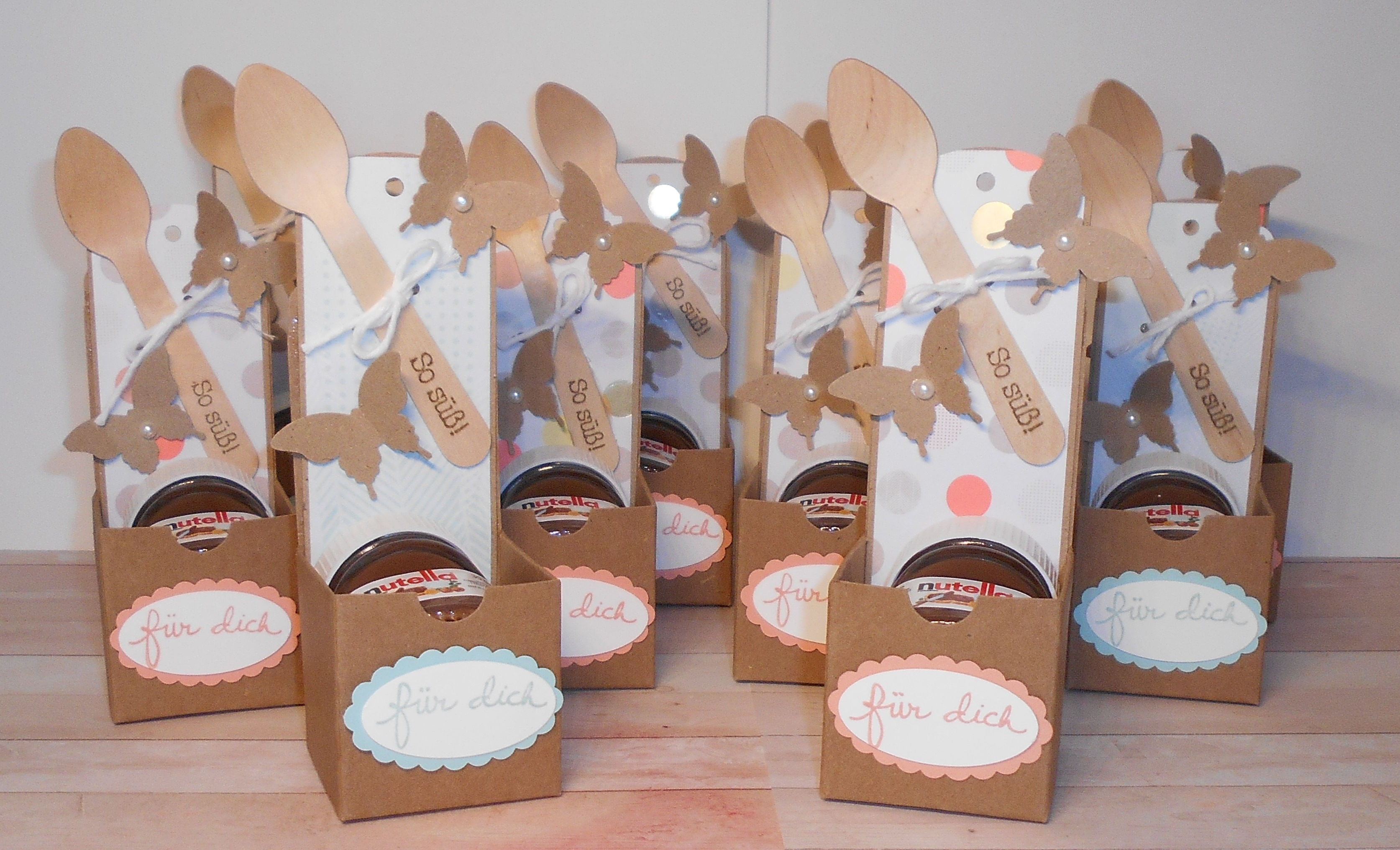 Außergewöhnliche Schnelle Mini-Nutella Verpackungen | Kleine Stempelmiez – Basteln  SF87