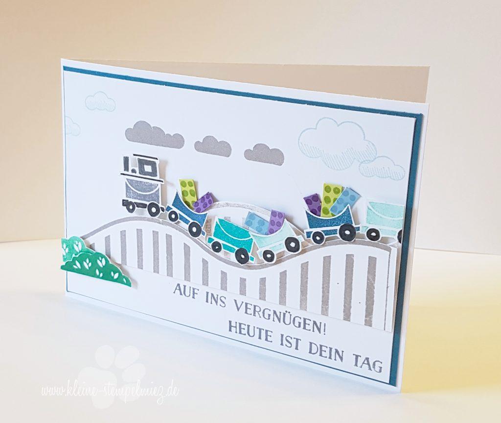 Geburtstagskarte Für Einen Eisenbahn Und Lego Fan Kleine